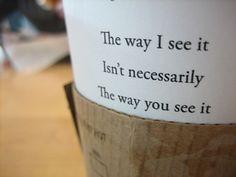 (starbucks) the way I see it