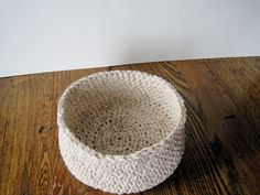 Rustic Linen and Cotton Bowl / Basket - Cottage Chic Home Decor for All Seasons - Textures, Textiles, Soft Sided Apple Basket. $20.00, via Etsy.