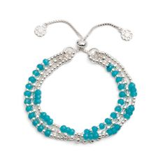 'Delia' Three Strand Slide Clasp Bracelet | | Discover Azuni www.azuni.co.uk
