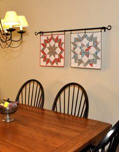 Flea Market Fancy quilt wall hangings by Fabric Warrior - Love them!
