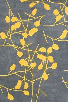 grey-yellow rug... I'm generally against rugs because of our floor issues, but this is lovely!