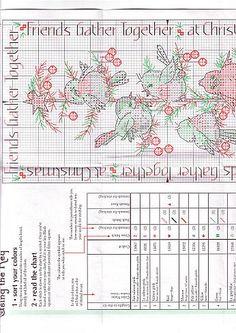 Schema punto croce Albero Con Uccellini 05