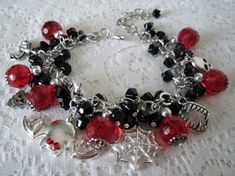 Immortal Love Charm Bracelet, wiccan jewelry pagan jewerly wicca jewelry witch witchcraft gypsy halloween new age mystic vampire gothic