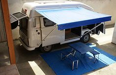 45 VW Camper Design Ideas with Awning Kombi Trailer, Vw Caravan, Kombi Camper, Trailers, Kombi Home, Campervan, Interior Design Business, Free Interior Design, Commercial Interior Design