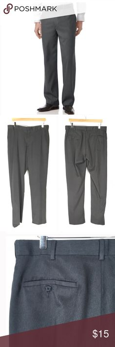 PGA Tour Gray Dress Pants 34 X 32 PGA Tour Gray Dress Pants 34 X 32   Nice polyester/Lycra spandex dress pants. There is a loose hem on the right leg. Slide tab closure has springs which allow for extra comfort. #185 PGA Tour Pants Dress