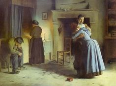 Mendilaharzu. Graciano Mendilaharzu. La vuelta al hogar (1885) American Art, 19th Century, Artwork, Latin America, Oil Paintings, Dark, Classic, Life, Visual Arts