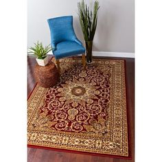 Persian Rugs Red Area Rug Rug Size: 8u0027 ...