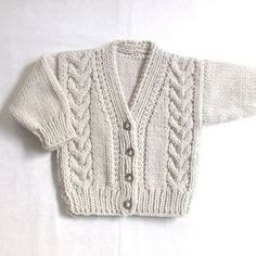 Infantil Aran cardigan 6 a 12 meses bebé ropa suéter de