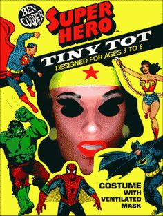 remember when costumes were plastic suits and masks and came in a box? I do!  Ben Cooper and Collegeville Vintage Halloween Costumes