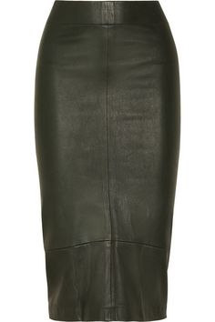 Leather pencil skirts. Essential