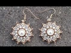 ▶ Beading4perfectionists : Pearl / superduo / seedbeads earrings beading tutorial - YouTube