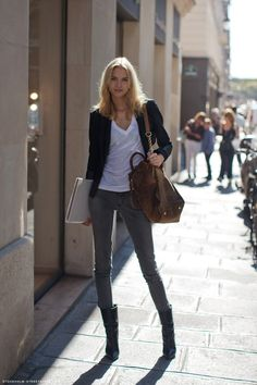 I don't know but I would like to have them attached to my body! Love the casual but chic look!