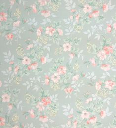 1940's vintage wallpaper little pink flowers by HannahsTreasures, $14.00