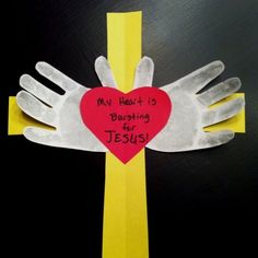 """My sis needed a craft for old Sunday school class valentines project. She already had the """"my heart is bursting for Jesus"""" part. (easter crafts for toddlers sunday school) Sunday School Projects, Sunday School Kids, Sunday School Activities, Sunday School Lessons, Bible Activities, Church Activities, Bible Story Crafts, Bible School Crafts, Bible Crafts For Kids"""