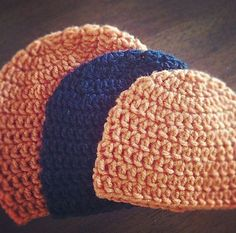 I wrote up this pattern after spending months trying to find my own perfect formula for a quick and easy double crochet hat in all possible sizes. Many crocheters like to use an H or I hook, but J is my go-to because the items work up a little faster but the fabric is not too open.