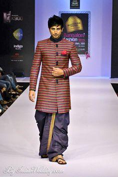 Sagar Tenali Bangalore Fashion Week Sagar Tenali Collection, Designs, Fashion Shows, Mens Fashion, Pictures and Photos on Bigindianwedding Mens Indian Wear, Indian Groom Wear, Indian Men Fashion, Indian Man, Ethnic Fashion, Mens Fashion, Sherwani, Kurta Designs, Urban Outfits