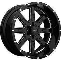 22x10 Black Milled Tuff T15 8x6.5 5 Rims Free Passer CT404 33x12.50R22LT Tires