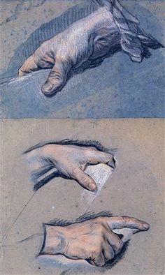 Studies of men's hands - Морис Кантен де Латур