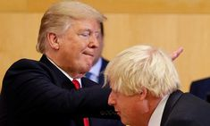 Donald Trump and Boris Johnson at a UN meeting in New York, September 2017.
