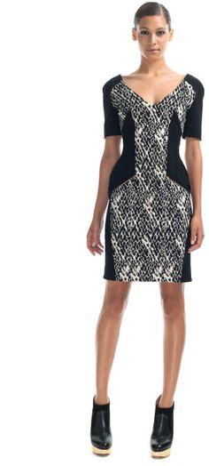 Prespring Zip Panelled Dress - Lyst
