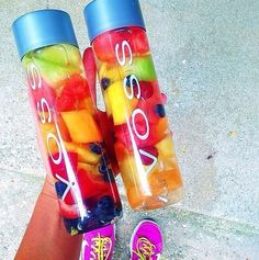 These Voss bottles are especially great because they're glass!