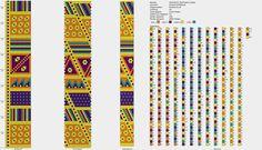 Loom Crochet, Bead Crochet Patterns, Bead Crochet Rope, Seed Bead Patterns, Beaded Jewelry Patterns, Crochet Bracelet, Crochet Chart, Peyote Patterns, Beading Patterns