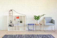 Chair Nuevo with the Marrakesh side tables and the House Doctor Light House lamp!