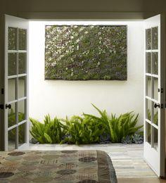 Vertical succulent garden by Flora Grubb