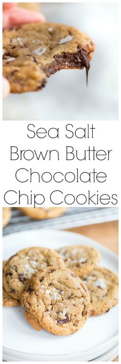 USE DARK CHOCOLATE BAR BROKEN INTO CHUNKS! Sea Salt Brown Butter Chocolate Chip Cookies