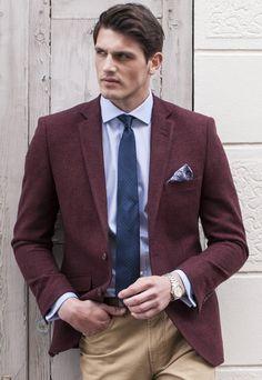 Burgundy Wool Jacket