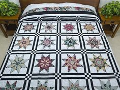 Stack and Whack Stars Quilt -- exquisite cleverly made Amish Quilts from Lancaster (hs5858)