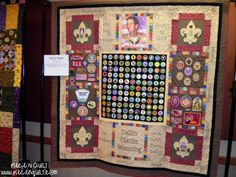 Ideas for Displaying Scout Badges | Boy Scouts of America Quilt Display