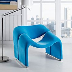 Cusp Lounge Chair in Blue