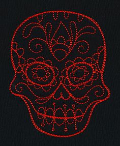 Cute Calavera 4 | Urban Threads: Unique and Awesome Embroidery Designs