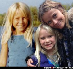 Cheryl Strayed (left) as a child and Reese Witherspoon with Cheryl Strayed's daughter Bobbi, who plays the younger version of her mom in the Wild movie. More pics here: http://www.historyvshollywood.com/reelfaces/wild/