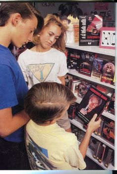Going to the Video Store to find a VHS movie (and trying to beat the weekend rush on Fridays before all the new ones were picked through!)