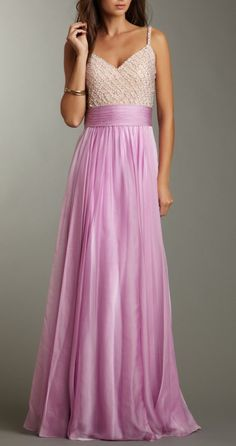 Beaded Lavender Gown