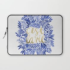That's Life – Gold & Blue Laptop Sleeve