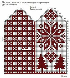 New Crochet Christmas Clothes Winter Ideas Crochet Mandala Pattern, Crochet Diagram, Crochet Chart, Knitted Mittens Pattern, Knit Mittens, Mitten Gloves, Knitting Charts, Knitting Stitches, Knitting Patterns