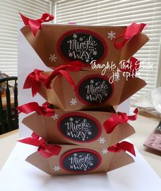Thoughts That Stick..... : Stampin Up! take out boxes altered