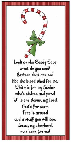 Candy Cane Legend: Jesus is the Gentle Shepherd, and this cane of red and white … – Candy Canee Merry Christmas, All Things Christmas, Winter Christmas, Christmas Holidays, Christmas Decorations, Christmas Ornaments, Christmas Poems, Christmas Meaning, Christmas Favors