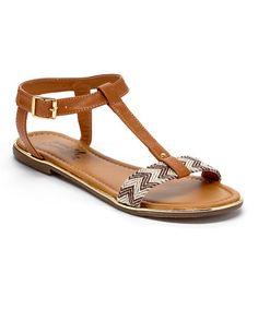 Brown Geometric Sandal