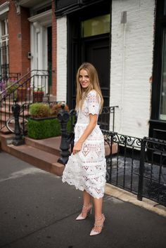 NYFW Recap wearing my Alexis dress and Valentino pumps