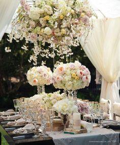 Wedding Decor Inspiration: Hanging Wedding Centerpieces - Munaluchi Bridal Magazine