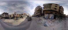 Syrie : plongée en vidéo à 360° dans une ville dévastée