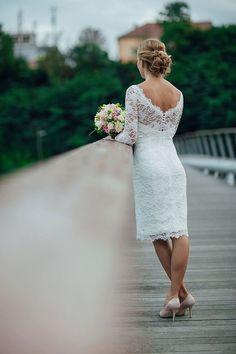 BEREIT SCHIFF Size US10 Kleid Spitzen-Brautkleid mit