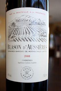 Blason d'Aussièries Corbières 2008 Domaines Barons De Rothschild (Lafite): Long Name = Good Wine? $13