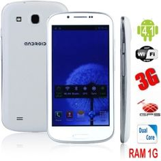 "Brand New 4.7"" Android 4.1 S9300 MTK6577 Dual Core Capacitive GPS WiFi 3G 1G/4G SmartPhone(White)from www.chinagadgetland.com at wholesale from China directly.  Model: S9300  Color: White  Network: GSM850/900/1800/1900MHz  3G:WCDMA 850/2100MHz  LCD Display: 4.7 Inch capacitive touch screen  Dimension: 137 x 70 x 7mm (L . W . H)  Camera: (2.0MP+5.0MP) high definition dual cameras, support flash light,auto focus  OS: Android 4.1  Message SMS,MMS,Mail  CPU: MTK6577  Dual Core 1.0GHz  Only…"