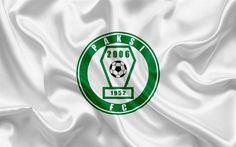 Indir duvar kağıdı Paksi FC, Macar futbol takımı, Pakistanlı amblem, logo detaylı, ipek bayrak, Kalocsa, Macaristan, futbol, Macar futbol Ligi
