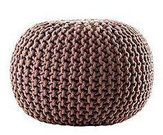 Puf de algodón trenzado Living Colours - chocolate